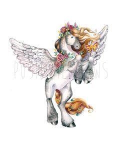 20 SALE Coupon Code GRANDOPEN Whisper the Pony by PosieMeadows, $7.00