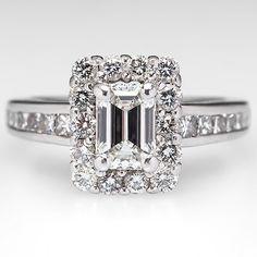 Emerald cut diamond engagement ring from EraGem. http://lovewc.me/ecoengagementrings