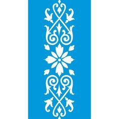 Stencil Opa 10x30 - Arabesco Folhas OPA736