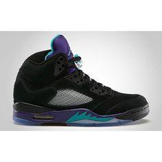 "Air Jordan 5 ""Black Grape"" - KicksOnFire.com ($52) ❤ liked on Polyvore featuring shoes, jordans and sneakers"