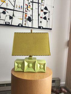 Midcentury retro kitsch ceramic lamp with paper shade asking $55 1/28/2015