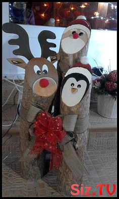 Related posts: Super 20 unbelievably creative DIY outdoor Christmas decorations Easy Last-Minute DIY Christmas Decorations Easy DIY Christmas Decorations for Outside Cheap DIY Outdoor Christmas Decorations Christmas Decorations Diy For Kids, Christmas Wood Crafts, Christmas Projects, Holiday Crafts, Christmas Crafts, Christmas Ornaments, Christmas Christmas, Wood Log Crafts, Diy Wood