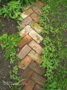 reclaimed brick path by Paul Brady
