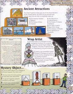 Horrible Histories Magazine # 3 : The Awesome Egyptians Mummy Mania Egyptian Crafts, Egyptian Mummies, Egyptian Art, World History Teaching, World History Lessons, 6th Grade Social Studies, Teaching Social Studies, Ancient Egypt Lessons, Ancient History
