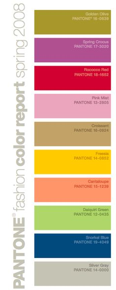 e3402527eefe28 Pantone Color Report Spring 2008