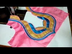 new and easy blouse back neck designe cutting and stitching at home - YouTube