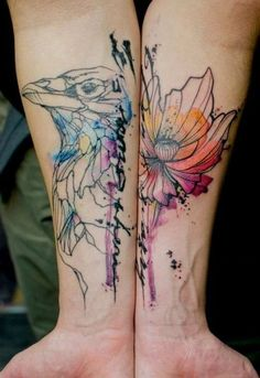 Watercolor tattoo - 65  Examples of Watercolor Tattoo  <3 <3