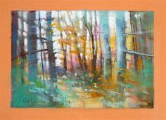 "Daily Paintworks - ""Forest Light"" - Original Fine Art for Sale - © Barbara Benedetti Newton"