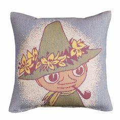 Ekelund Moomin Snufkin Throw Pillow - Ekelund Moomin Throw Pillows and Blankets #pintofinn