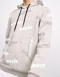 Source Hooded sweatshirt printed MAYBE TOMORROW on it. High QUALITY Hooded sweatshirt, Printed Hoodie. on m.alibaba.com