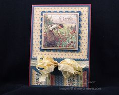 "Sherry Cheever as Walkin' on the Bad side for G45 using French Country  paper collection, ""Meadow"" Card, Feb. 2013"