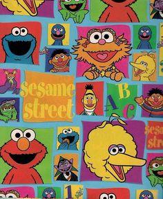 Sesame Street Gang Big Bird Bert Ernie Gift Wrap Flat Wrapping Paper 2 pack by ilPiccoloGiardino Sesame Street Muppets, Sesame Street Characters, Sesame Street Party, Sesame Street Birthday, Elmo Wallpaper, Disney Wallpaper, Cartoon Wallpaper, Iphone Wallpaper, Kaws Wallpaper
