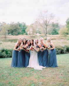 Share with the girls you'll be spending the big day with! Amsale Bridesmaid, Bridesmaid Dresses, Blue Wedding, Wedding Colors, Walking Down The Aisle, Big Day, Weddings, Girls, Bridesmaid A Line Dresses