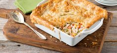 "Turkey Pot Pie - Campbell's soup and puff pastry #madeit. Used frozen veg ""for spaghetti"", extra cup of diced carrots and cooked in water. Added cream of celery soup, 1-2 tsp dried sage and 1 tsp thyme, 1/2 c cream and 1T flour. Then added diced turkey (about 2lbs raw). Puff pastry on top (didn't puff much) and cooked for 25 min"