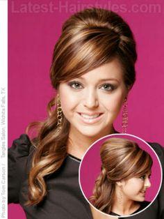 VALDAZ REQUEST FOR BRIDESMAIDS: Side ponytail updo