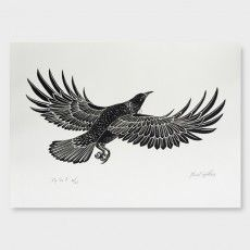 Fly Tui 2 Screen Print by Daniel Tippett