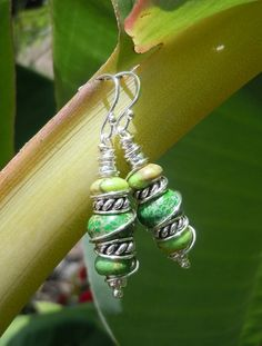 Green Earth Earrings by TheEclecticOcean on Etsy, $22.00