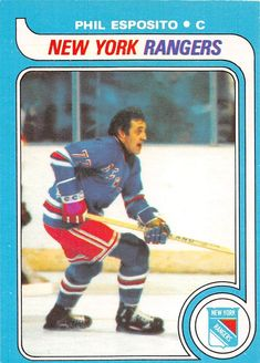 The O-Pee-Chee set consists of 396 hockey cards and features the rookie card of Wayne Gretzky and the last cards of Gordie Howe and Bobby Hull. Hockey Cards, Baseball Cards, Phil Esposito, Bobby Hull, Stars Hockey, Wayne Gretzky, Trading Cards, Nhl, Coaching