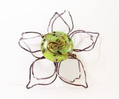Magnetic Scarf Pin Gunmetal Flower Brooch Magnetic by simplysuzie2, $35.00