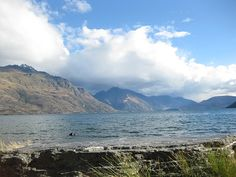 Looking up Lake Wakatipu..it's 3 miles across the lake to other side!