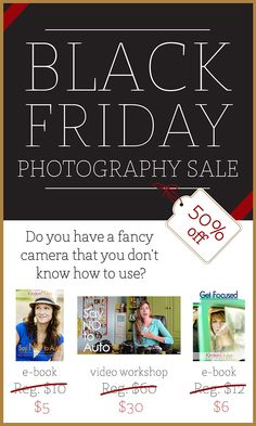 Black Friday Photography Sale - learn to become a better photographer with Capturing Joy with KristenDuke.com