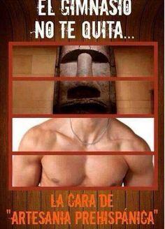 El gimnasio no te quita la cara de artesania prehispanica!