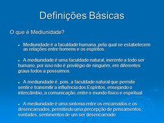 definições básicas: mediunidade