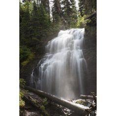 Waterfalls Flowing Down A Rock Cliff Waterton Alberta Canada Canvas Art - Michael Interisano Design Pics (12 x 19)