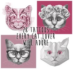 28 Classy Cat Tattoos Every Cat Lover Will Adore. This is all you @damianas