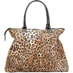 ALFA Leopard Overnight Bag ($17) ❤ liked on Polyvore
