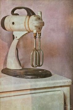 Kitchen Aid is a simple still life portrait representing the beauty of ordinary, everyday vintage objects.