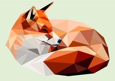 Made with adobe illustrator. Polygonal fox. Feel free to contact me if you would like me to make one for you!