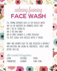 awesome natural face wash with essential oils! awesome natural face wash with essential oils! Essential Oils For Face, Essential Oil Uses, Doterra Essential Oils, Young Living Essential Oils, Oil Face Wash, Natural Face Wash, Guter Rat, Homemade Beauty Products, Natural Products