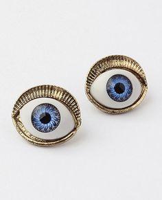 Mikaish I M Talkin Bout Blue Eyes Eyeball Stud Earrings