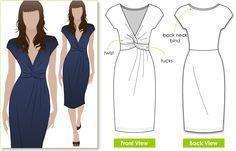 Jessica twist dress sewing pattern