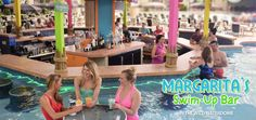 Margarita's Swim-Up Bar in the Wild WaterDome gives your vacation a tropical feel! Wilderness Resort - Wisconsin Dells