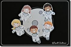 Free printable astronaut rhyme with figures.