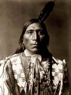 Little Hawk, a Brule Warrior It was taken in 1907 by Edward S. Curtis.
