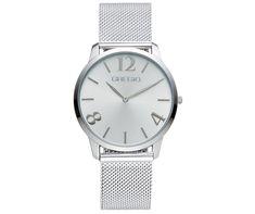 Από τον οίκο Pierre Lannier ένα ρολόι από ανοξείδωτο ατσάλι με ασημί  καντράν  dc6c4e196ab