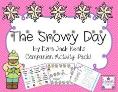 Snowy Day Companion for speech and language therapy! perfect for mixed groups.  work on articulation, wh questions, vocabulary, sequencing and more!