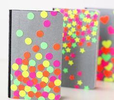 Libreta decorada con colores neon 4