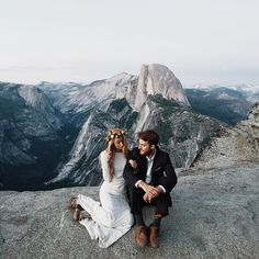 Yosemite elopement on top of a mountain                                                                                                                                                                                 More
