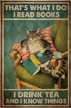 I Love Books, Good Books, Books To Read, My Books, Cute Cats, Funny Cats, Funny Animals, Cute Animals, Crazy Cat Lady