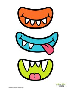 Little Monster Party Decorations - Monster eyes AND Monster grins. $4.00, via Etsy.