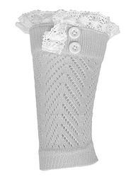Crochet and Lace Button Boot Cuff- Ivory www.mycrickets.com