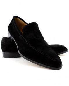 Image of Gravati Black Suede Venetian Loafer