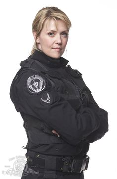 I wish I could wear that uniform even just long enough to get a picture of me in it! -Still of Amanda Tapping in Stargate SG-1
