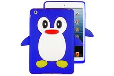 3D Cute Penguin Design Soft Flexible Silicone Rubber Cases for iPad mini 3, 2 and 1   Lagoo Tech