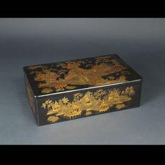 Chine, boite en laque de Canton, 19ème siècle.