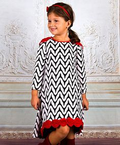 This Black & Red Floral Hi-Low Dress - Toddler & Girls is perfect! #zulilyfinds